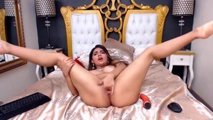 Sexy Latina Destroying Her Pussy
